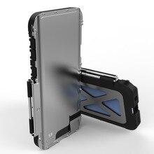 R JUST çelik Flip Case Samsung Galaxy S8 S9 S10 S6 S7 kenar artı demir adam darbeye braketi kapağı galaxy not 7 8 9 vaka