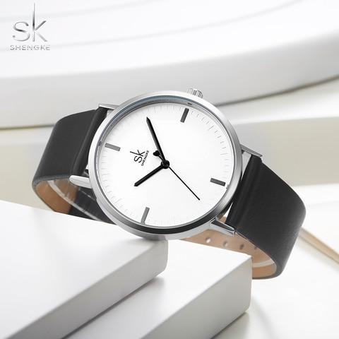 Shengke Men Women Couple Watches Set Fashion Leather Strap Quartz Watch Reloj 2019 New Business Top Brand Bracelet Watches Wrist Islamabad