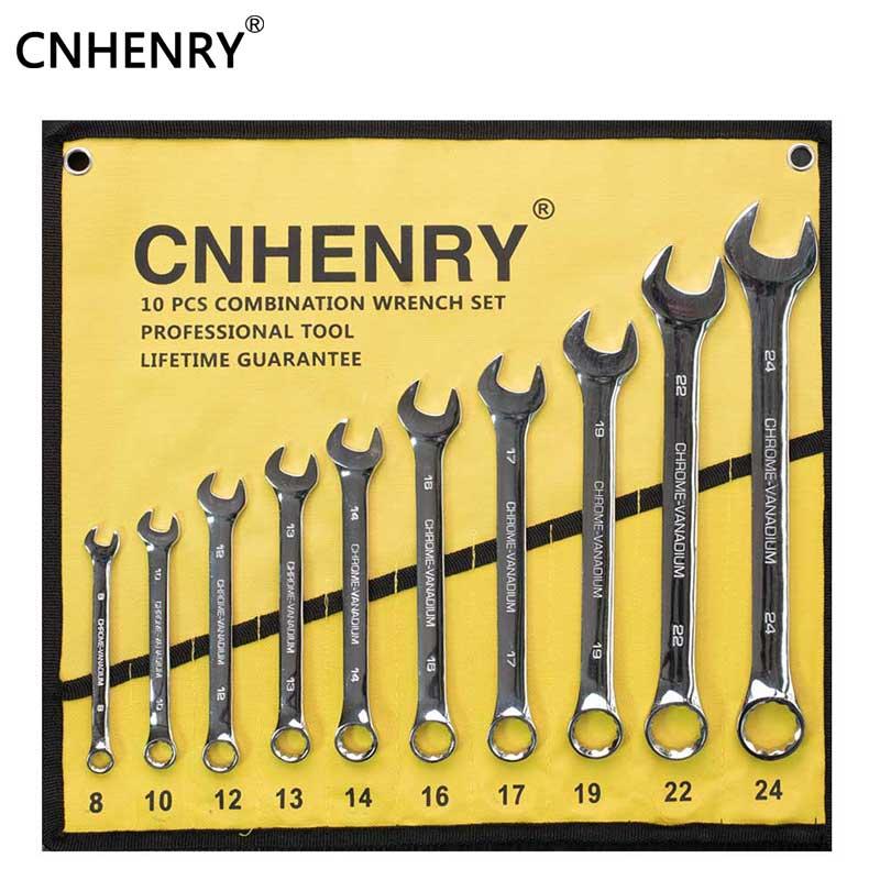 10 pces um conjunto 8-24mm conjunto de chave de combinação flexível ferramentas manuais ferramentas do carro para o reparo de automóveis conjunto chave inglesa ferramenta de diagnóstico
