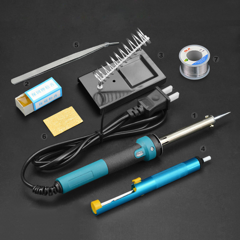Extermal heating Thermostatic Electric iron Home Soldering Tools solder wire Set