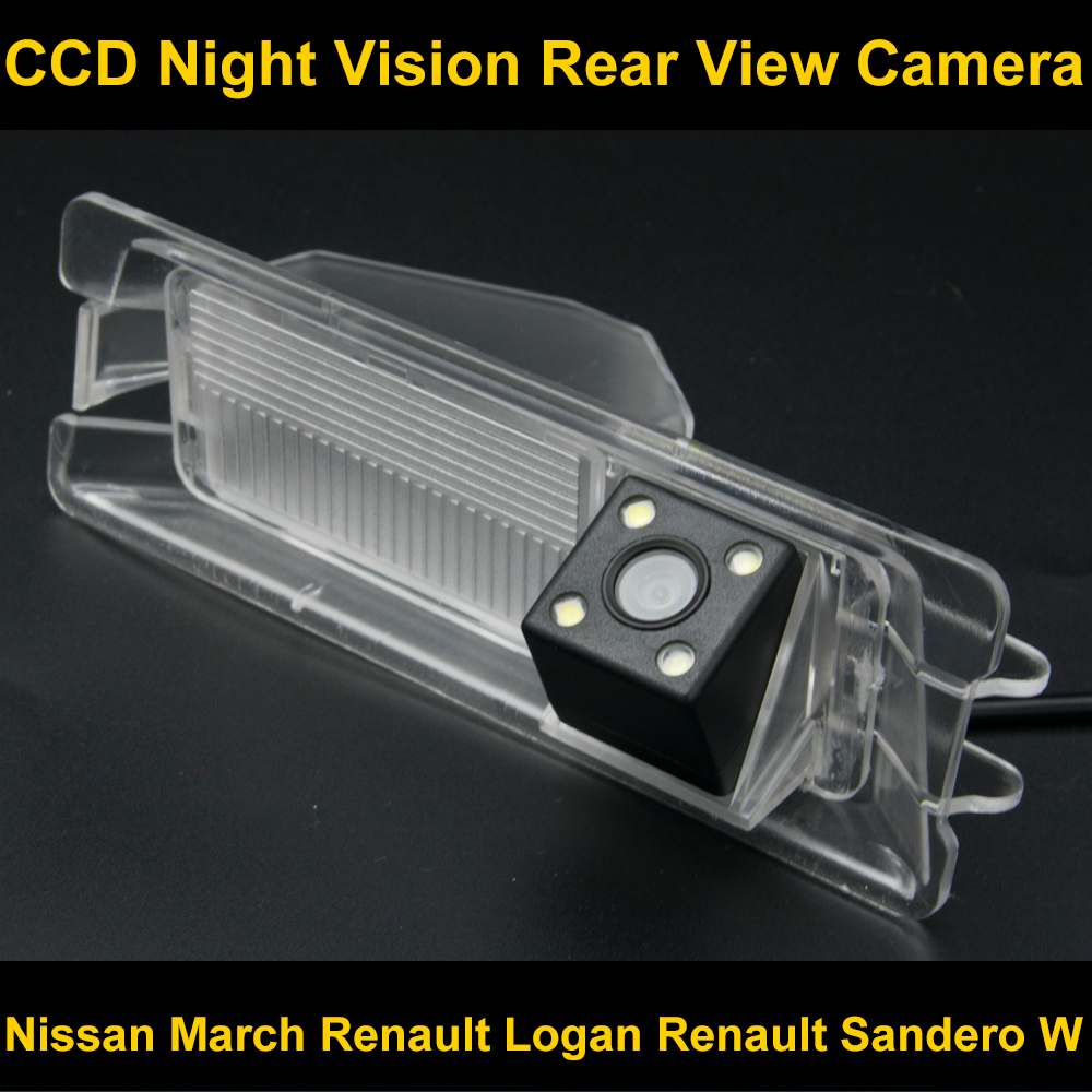 Étanche 4 LED vue Arrière Caméra De Recul Inverse Parking Caméra pour Nissan Mars Renault Logan Renault Sandero W