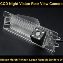À prova d' água 4 LEVOU Câmera de visão Traseira Reversa de BackUp Câmera de Estacionamento para Nissan March Renault Logan Renault Sandero W