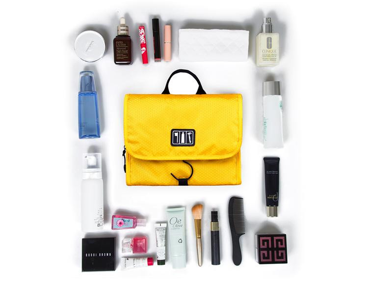 9436a1d64e WORTHFIND Toiletry Makeup Bag Waterproof Cosmetic Bag Large Women ...