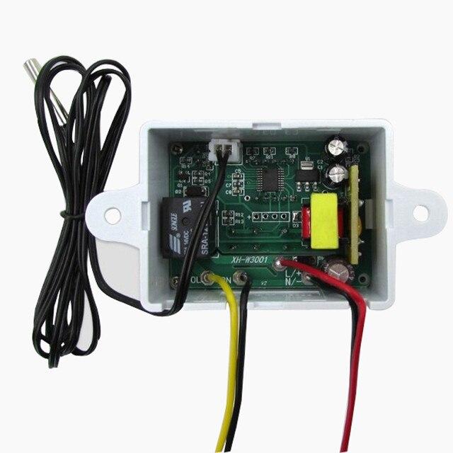 EPULA Digital 12 V Control de temperatura del termostato interruptor 12 V + sensor