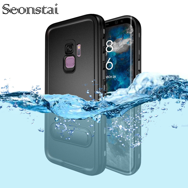 good texture fashion quality products US $14.99 25% OFF|Water Resistant Waterproof Shockproof Case for Samsung S9  S8 Plus Swimming Diving Underwater Cover Coque for S9 with Fingerprint-in  ...