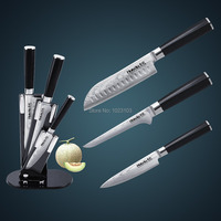 HUIWILLJapanese TAKEFU VG10 Damascus steel santoku knife set Chef knife set