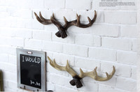 high quality resin antler design clothes rack coat hanger clothes tree wall decoraction American country creative hanging