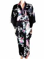 뜨거운 판매 블랙 일본어 여성 실크 기모노 오비 전통 유카