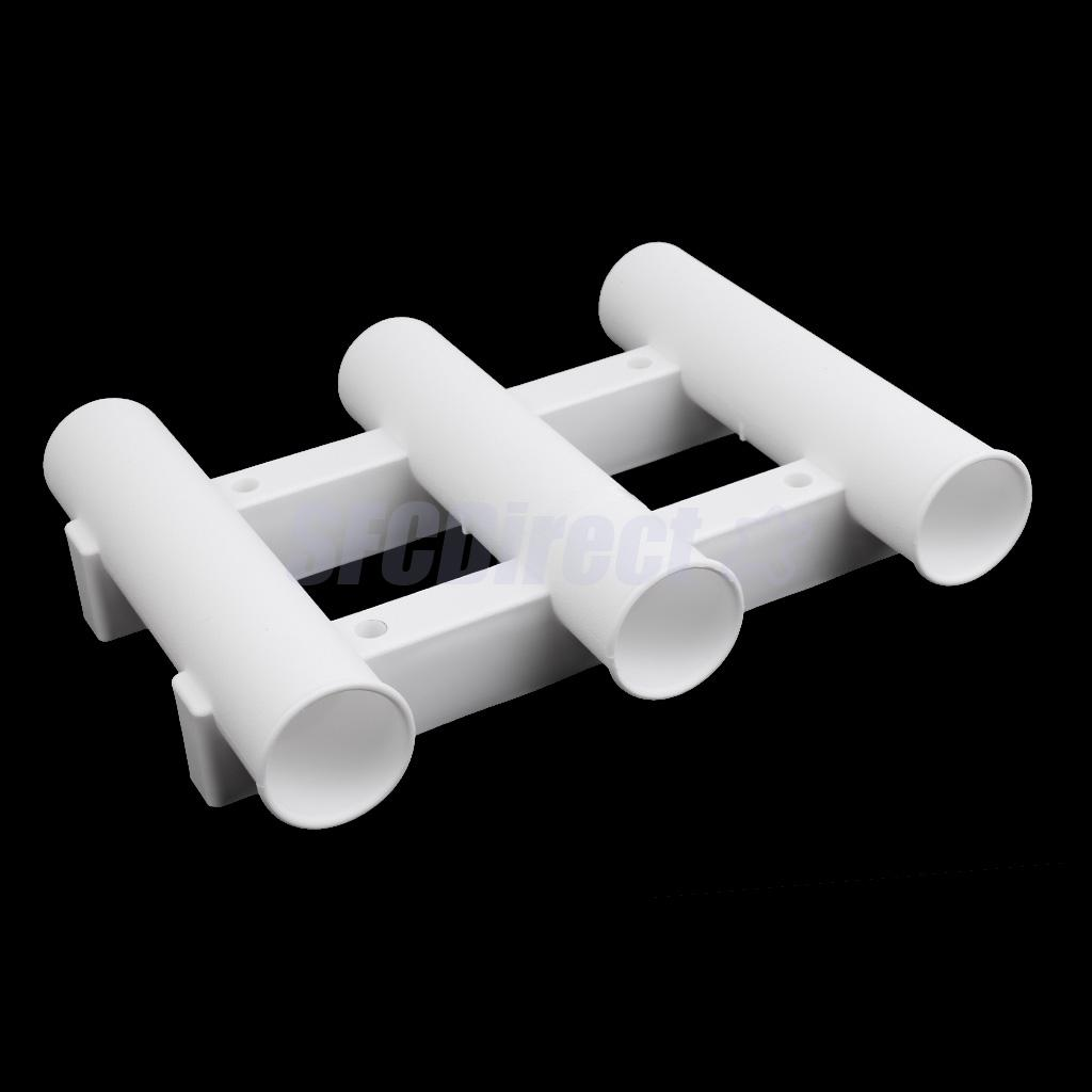 3 Tubes Link White Plastic Fishing Rod Holder Fishing Rod Rack Socket for Boat Marine Fishing Box Kayak Boat Yacht