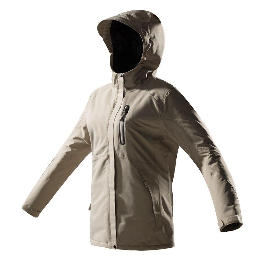 Hiver USB infrarouge chauffage coton hommes femmes veste en plein air Camping coupe-vent imperméable coupe-vent randonnée escalade polaire manteau - 5