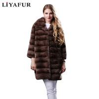 FENGYI 3 Colors Real Genuine Long Natural Chinchilla Rex Rabbit Fur Winter Coat for Women Furry Turn down Collar Coats Jacket