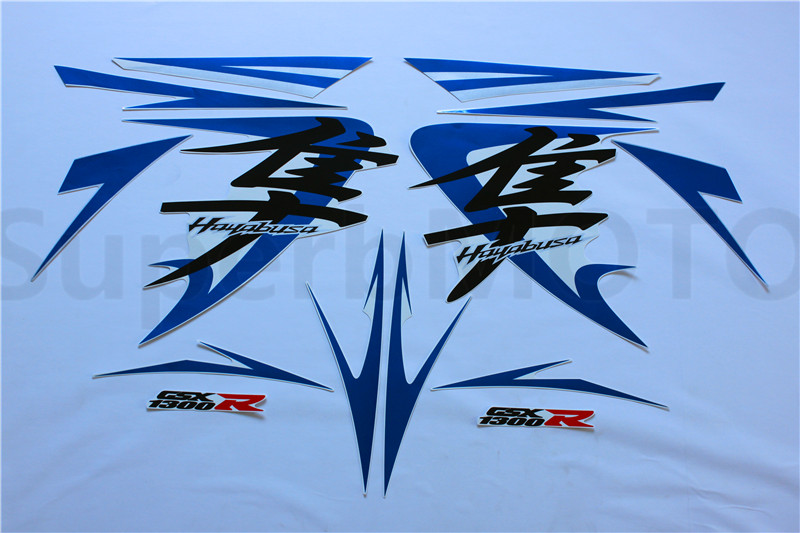 Motorcycle Stickers Decal For Suzuki GSXR 1300 HAYABUSA 2008 2012 3M Screen Printing Whole Car