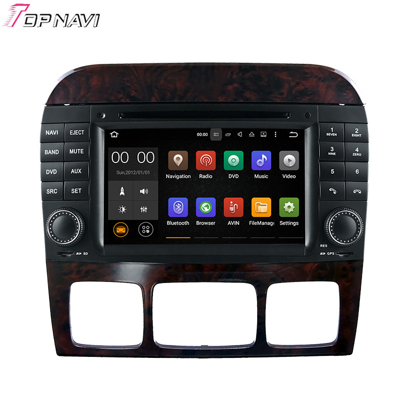 Car Multimedia Player Quad Core Android 7.1 DVD TOPNAVI for S W220 (1999-2006)/CL-W215(1998-2005) For Benz GPS Navigation Radio