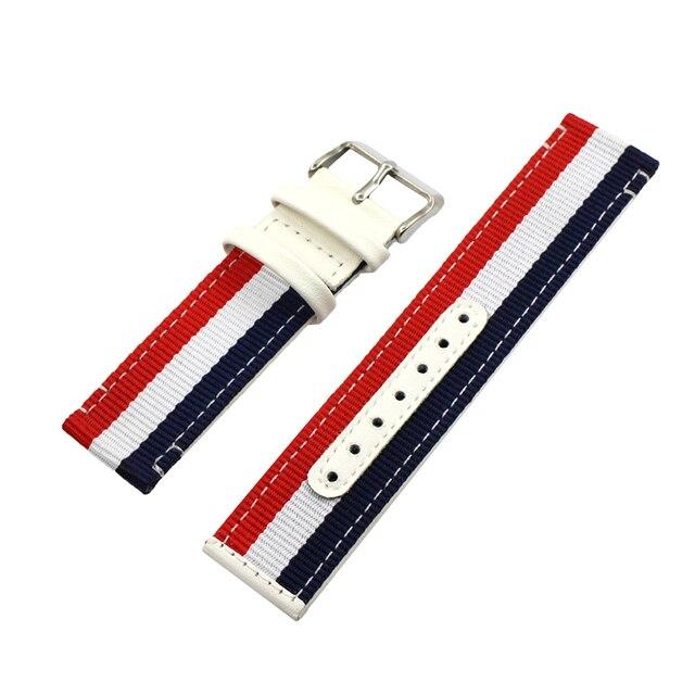 Bracelet de montre en cuir otan en Nylon 22mm 24mm pour Armani toile tissu sangle poignet boucle ceinture Bracelet noir blanc rouge bleu + broche + outil
