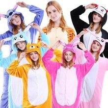Kangaroo Animal Pajamas Unisex Adult Pajamas Flannel Pajamas Winter Garment Cute Cartoon Animal Onesies Pyjamas Jumpsuits