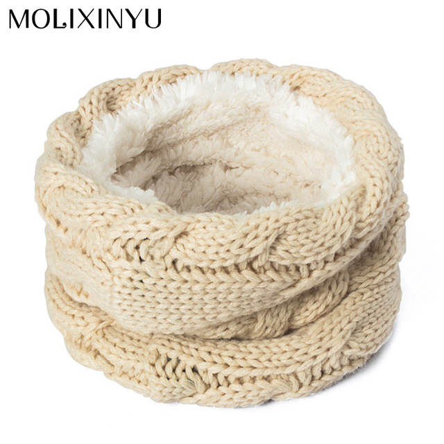 MOLIXINYU 2018 New Cotton Winter Children Scarf For Girls Boys Scarves Warm Winter Scarf For Kids Baby Scarf Knitted