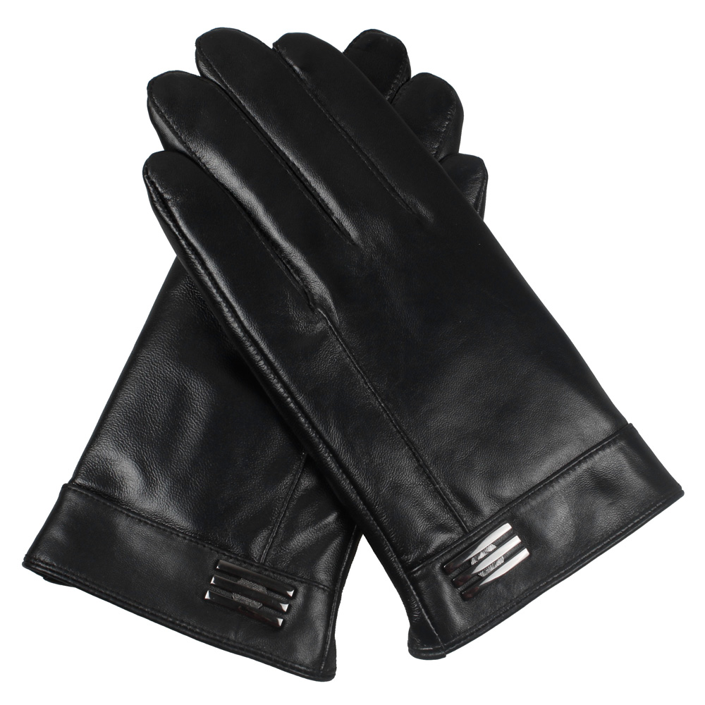 Mens gloves use iphone - Men Leather Gloves Genuine Leather Sheepskin Leather Gloves Fashion Men Winter Warm Plush Gloves Mittens Free