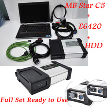 High Configuration MB Star C5+2017.9HDD+E6420 Laptop xentry/Vediamo for car Diagnosis mb c5  Wifi SD Connect obd tools DHL free