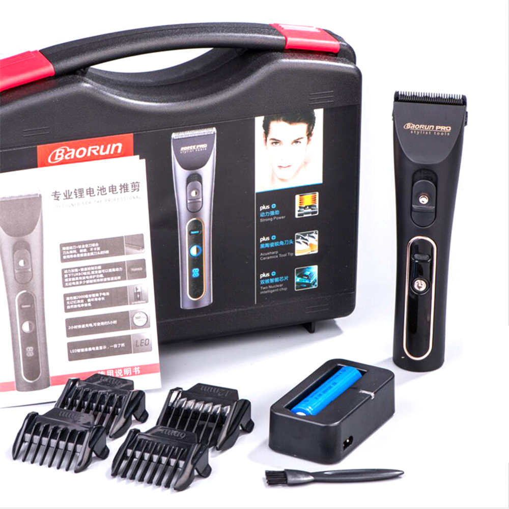 Professional Electric Hair Clipper Titanium Blade Men s Rechargeable Beard Trimmer for Salon 18650 Lithium Hair
