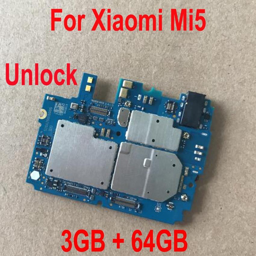 Global FirmWare Original Working Unlock Mainboard For Xiaomi 5 Mi 5 Mi5 M5 3GB 64GB Motherboard