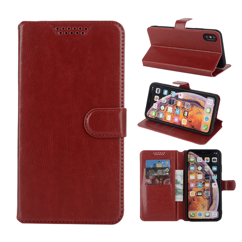 Flip Kickstand Cases <font><b>Cover</b></font> for <font><b>Nokia</b></font> <font><b>230</b></font> / <font><b>230</b></font> Dual SIM Original Wallet Leather Cell Phone Case Pure Black Capa Back <font><b>Covers</b></font> image