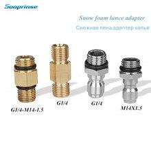 G1/4 m14 alta qualidade adaptador de arruela de pressão para bocal gerador de espuma arma sabão foamer acessórios do carro ferramenta automática carro stying