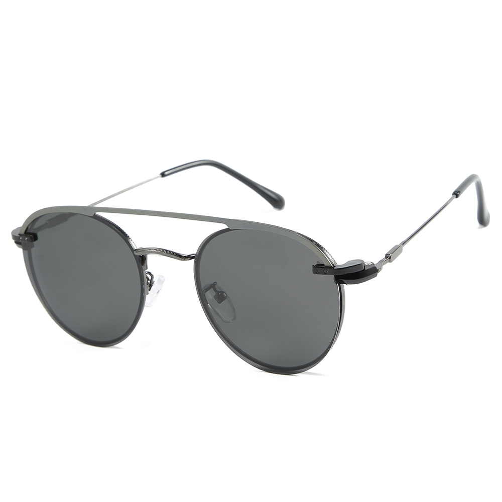 MARC pilot polarized sunglasses for men metal 2019 high quality Round uv400 sun glasses oculos in Men 39 s Sunglasses from Apparel Accessories