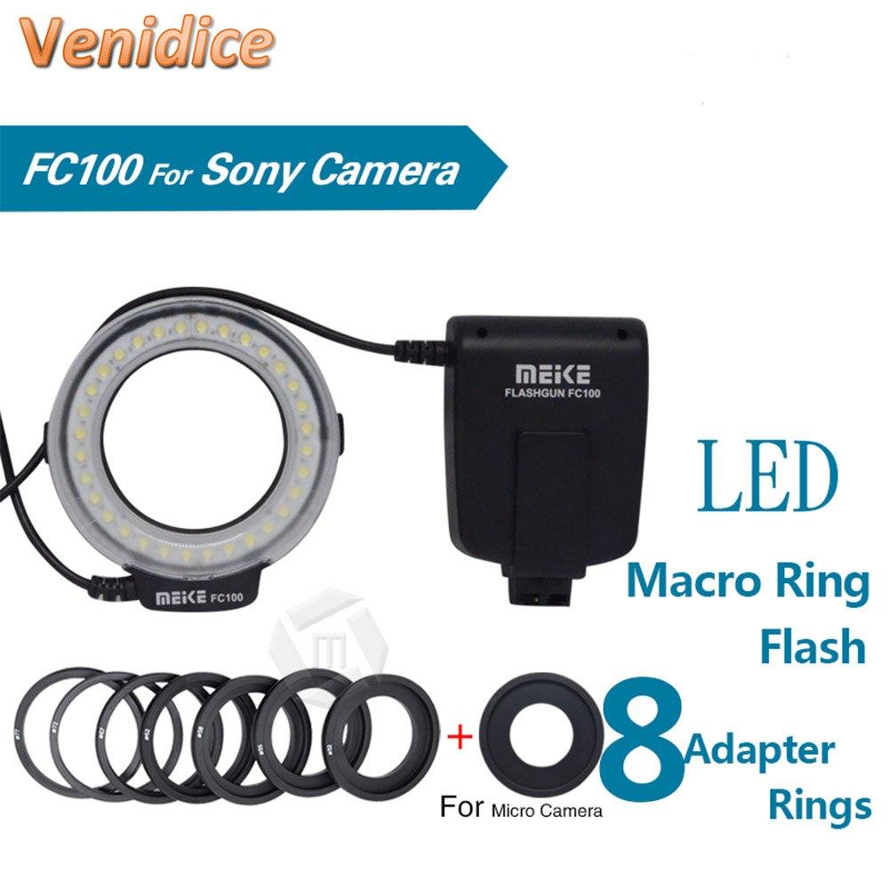 MK-FC100 5500K GN15 LED makro blesk blesk sada pro Sony různých velikostí objektivů DSLR fotoaparáty