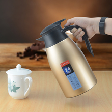 2L Stainless Steel Thermos Flask Tea Coffee Carafe Double Wall Vacuum Insulated With Press Button Water Bottle Flask Pot 2l stainless steel thermos flask hydration bottle