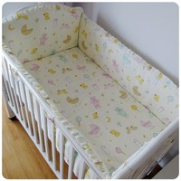 Promotion 6PCS Baby Bedding Set Animal Crib Bedding Set 100 Cotton Baby Bedclothes Bumper Sheet Pillow
