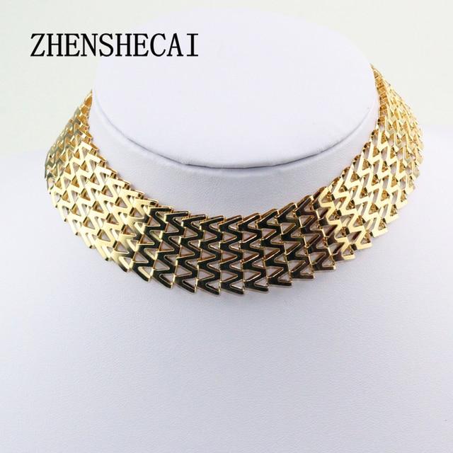 Fashion Jewelry Trendy Women Necklaces & Pendants Weave Link Chain Short Chokers