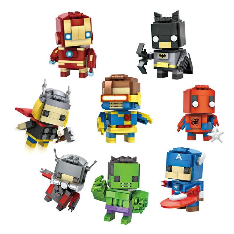 LOZ Super Hero blocks Ant Man Captain America Thor Iron Man Brick Heads Figure Assemblage legoINGLY Building blocks Toys lttl fashion men shoes casual pant leather platform mens ankle boots high quality vulcanize shoes high top lace up flats shoes
