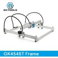 GKTOOLS DIY Wood Mini CNC Laser Engraver Cutter Engraving Machine Frame Without Laser 45 45cm Acrylic