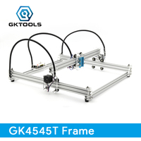 GKTOOLS DIY Wood Mini CNC Laser Engraver Cutter Engraving Machine Frame Without Laser 45 45cm Acrylic