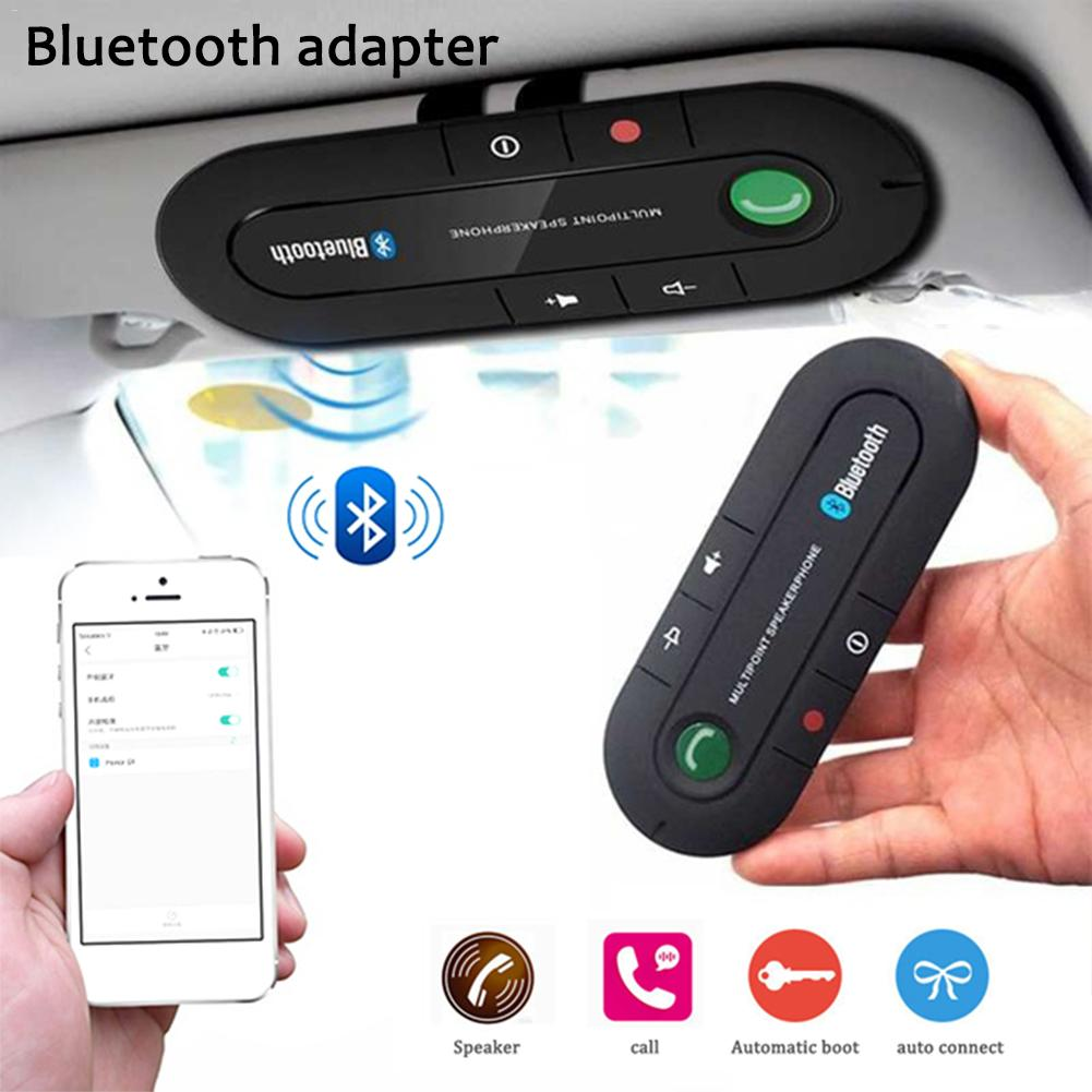<font><b>Hands</b></font> <font><b>Free</b></font> Bluetooth Car Kit FM Wireless Bluetooth Speaker Phone MP3 Music Player Clip Speakerphone With Car Charger Sun Visor image