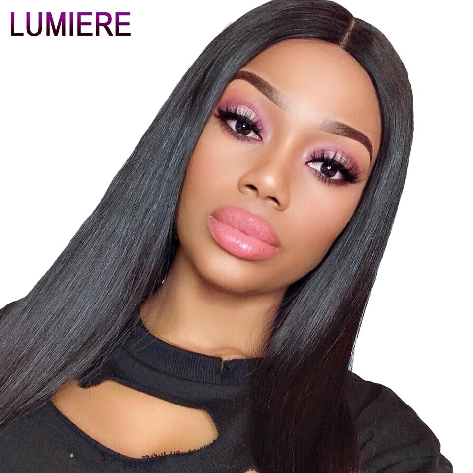 Lumiere Hair Perui taisni matu pieaudzēšanas līdzekļi Remy Hair - Cilvēka mati (melnā krāsā) - Foto 2