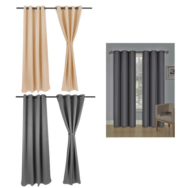 Room Darkening Curtains Window Blinds Drapes 2 Panel Set-