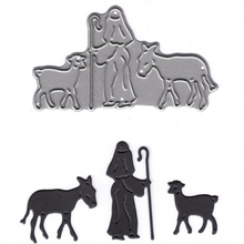 Sheppard With Sheep  Metal Cutting Dies Stencil For DIY Scrapbooking Decorative Embossing Suit Paper Cards Die Template