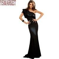 YSMARKET 2017 Mermaid Dress Girl Vestidos De Festa Vestido Longo Royal Ruffle Women One Shoulder Elegant