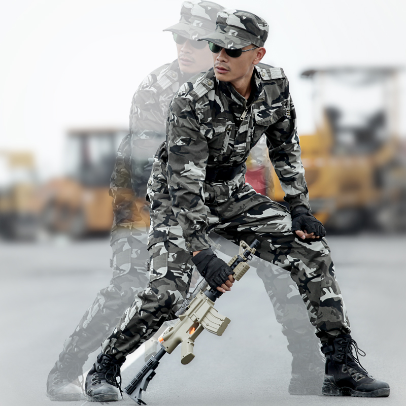 Outdoor Men's Hunting Clothing Uniforms Field Camouflage Suits Jackets+pants Cotton Army Military Multicam Combat Ghillie Suits