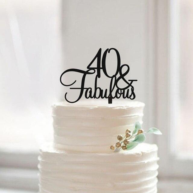 40 Fabulous Birthday Cake Topper 40th Geschenk Einzigartige Jahrestags