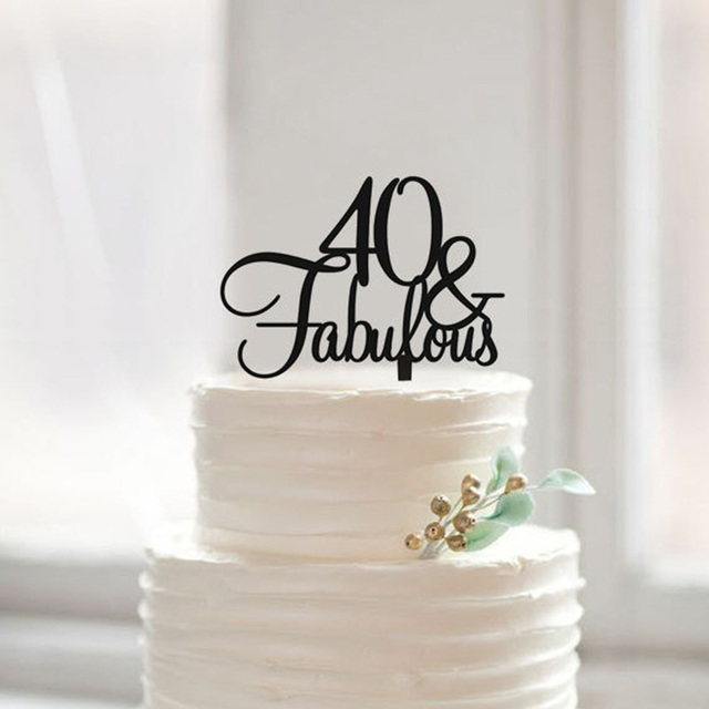 40 Fabulous birthday cake topper40th birthday cake topper gift