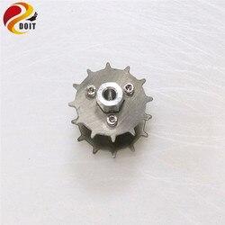 Peças de pista de roda em aço inoxidável, 2 pçs/lote 4/5/6mm para tanque de robô peças do brinquedo do chassis rc
