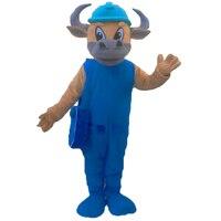 2017 New Bull Mascot Costumes Cosplay Real Photo Free Shipping Long Hair Langteng (tm)