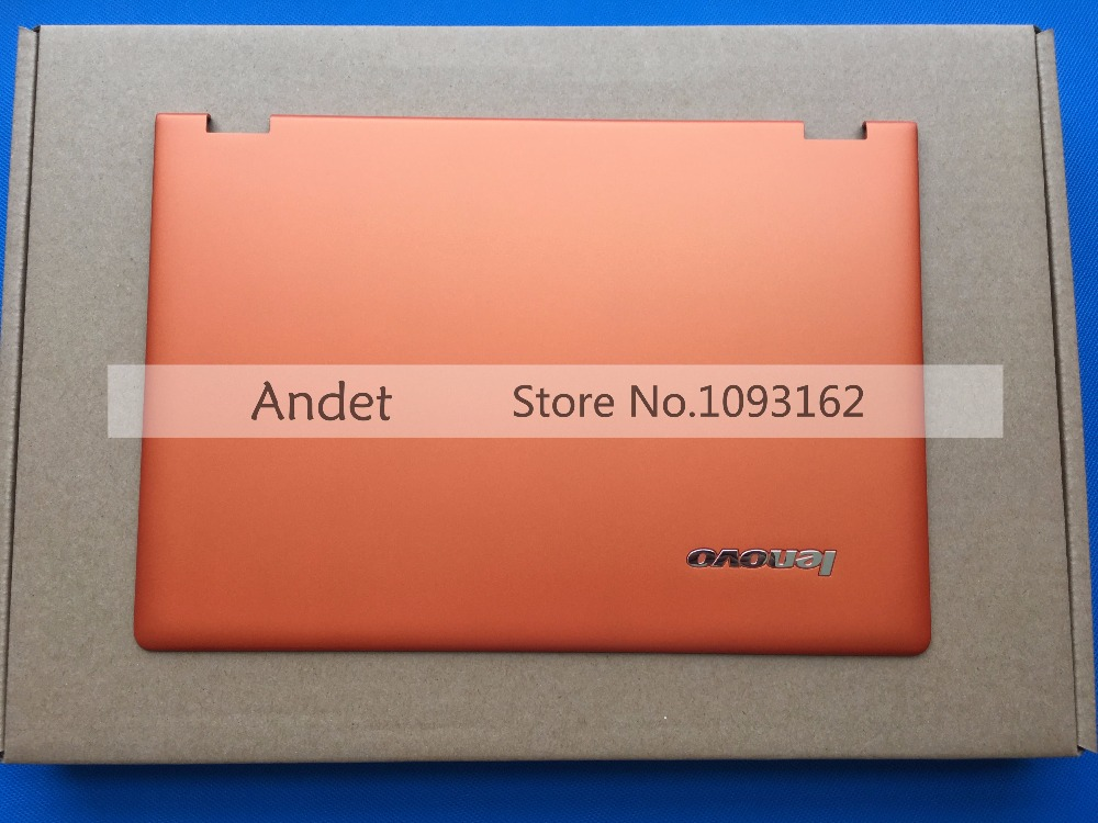 New Original Lenovo Ideapad Yoga 2 Pro 13 Lcd Back Cover Rear Lid Top Case AM0S9000300 Orange new original lenovo ideapad z500 lcd rear cover back top case lid white no touch 90202122 ap0sy000130