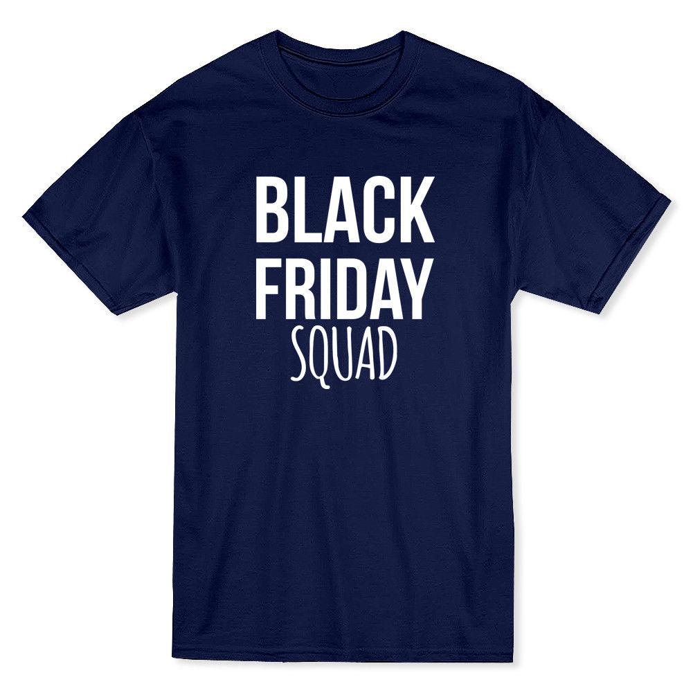 Black Friday Squad Mens Safety Orange T-shirt Printed Men T-Shirt Short Sleeve Funny Tee Shirts