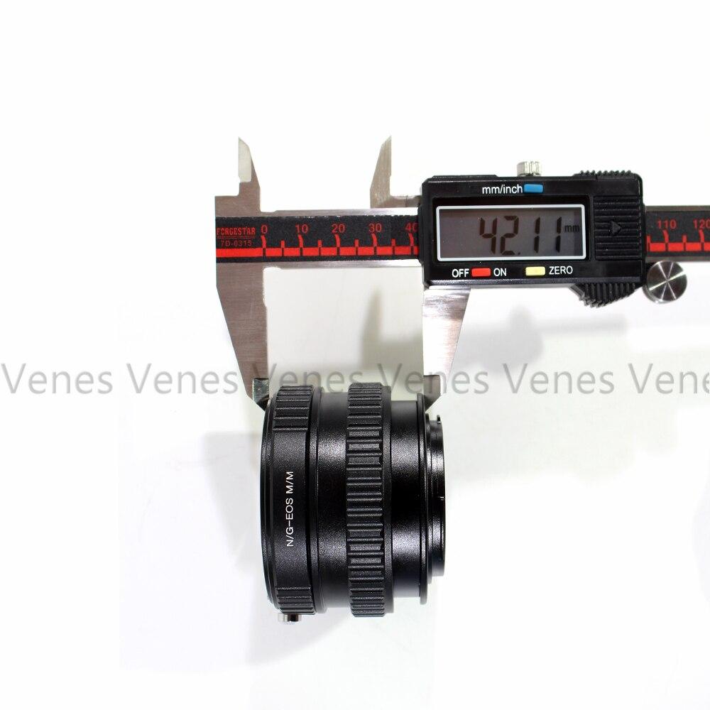 Venes N/G-pour EOS. M/M, bague adaptateur Macro Tube hélicoïdal combinaison pour objectif Nikon G/F/AI/AIS à Adapter pour appareil photo EOS M1 M3 M2