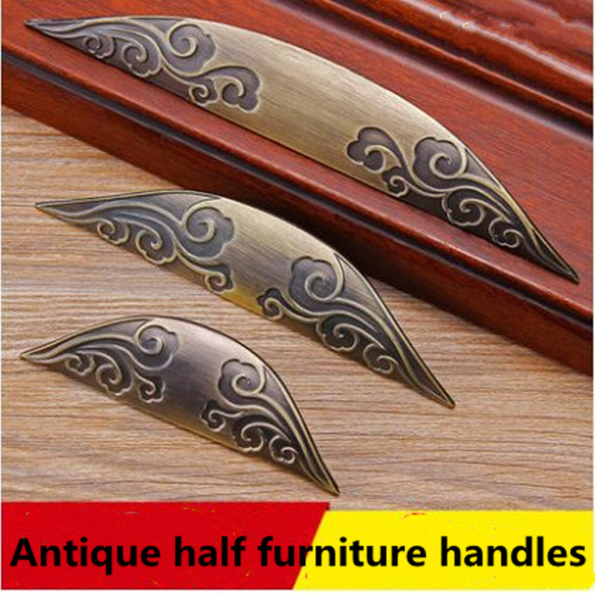 64mm 96mm Ameican vintage creative carved drawer cabinet pulls knobs antique brass kitchen cabinet dresser door handles bronze 64mm 96mm vintage bamboo furniture handles bronze kitchen cabinet dresser door handles 2 5 antique brass drawer pull knob 3 75