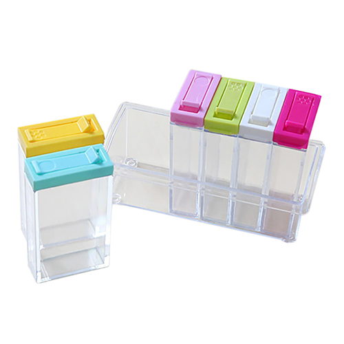 Practical Transparent Spice Storage Containers, Set of 6 Seasoning ...