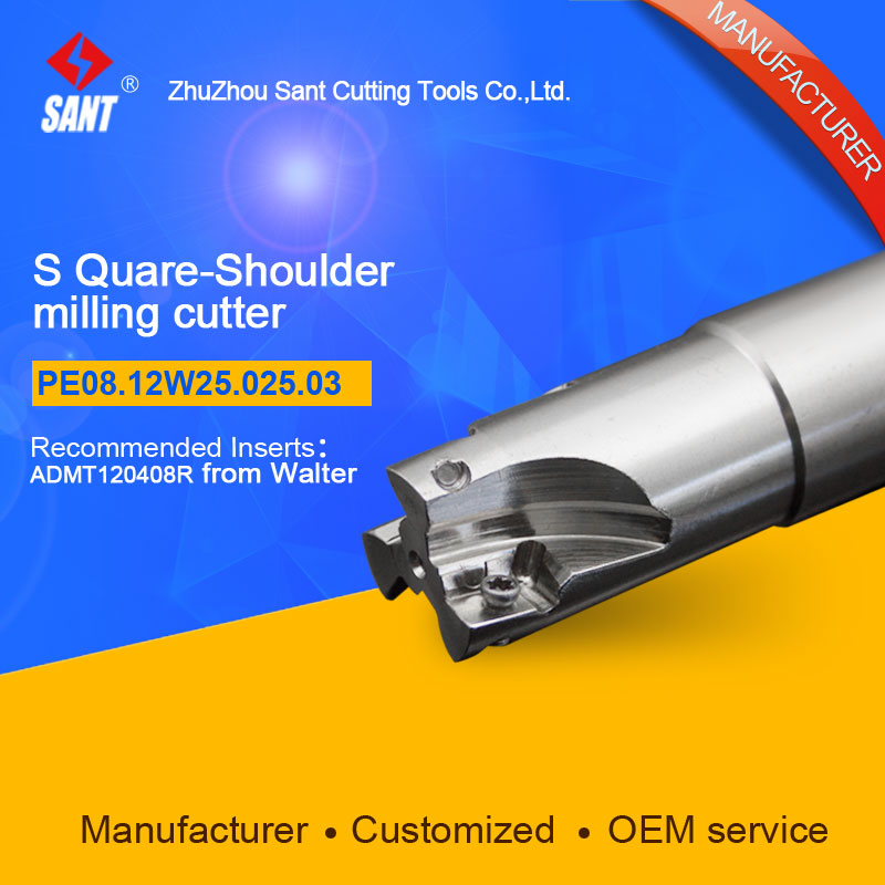 Square shoulder milling cutter Indexable Milling cutter insert ADMT120408R from Walter disc PE08.12W25.025.03 hot selling abrod